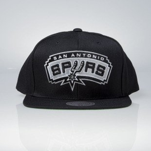 Mitchell & Ness cap snapback San Antonio Spurs black Wool Solid / Solid 2 NT78Z