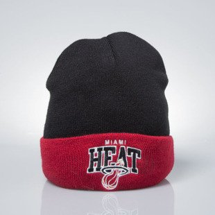 Mitchell & Ness czapka zimowa winter baenie Miami Heat black / red EU349 ARCHED CUFF KNIT