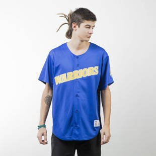 Mitchell & Ness jersey Golden State Warriors royal Mesh Button Front