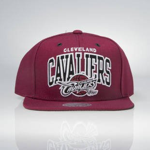 Mitchell & Ness snapback Cleveland Cavaliers burgundy EU965 Black and White Arch