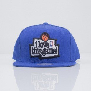 Mitchell & Ness snapback I Love This Game blue VI66Z