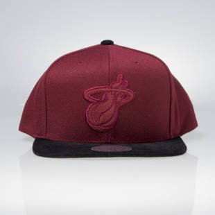 Mitchell & Ness snapback Miami Heat burgundy / black EU948 Max