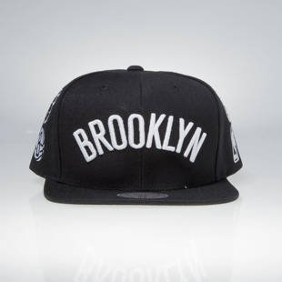 Mitchell & Ness snapback cap Brooklyn Nets black 059VZ TEAM LOGO HISTORY
