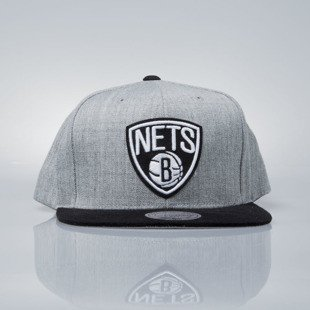 Mitchell & Ness snapback cap Brooklyn Nets grey heather / black VO59Z HEATHER MICRO