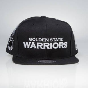Mitchell & Ness snapback cap Golden State Warriors black 059VZ TEAM LOGO HISTORY