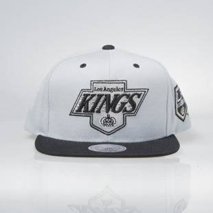 Mitchell & Ness snapback cap Los Angeles Kings light grey / black 50Th 2Tone Fleat Peak 467VZ