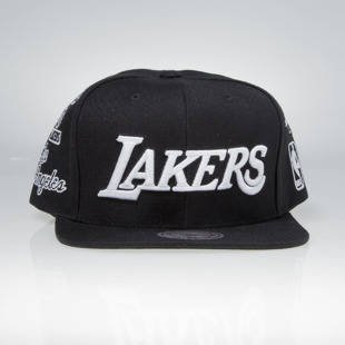 Mitchell & Ness snapback cap Los Angeles Lakers black 059VZ TEAM LOGO HISTORY