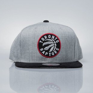 Mitchell & Ness snapback cap Toronto Raptors grey heather / black EU1012 HEATHER MICRO