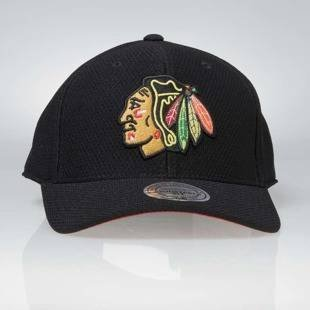 Mitchell & Ness strapback Chicago Blackhawks black Hexagon Jersey Mesh Hook and Loop