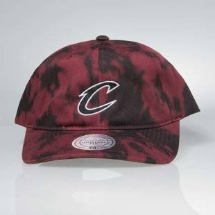 Mitchell & Ness strapback Cleveland Cavaliers burgundy Multi Colour Acid Wash