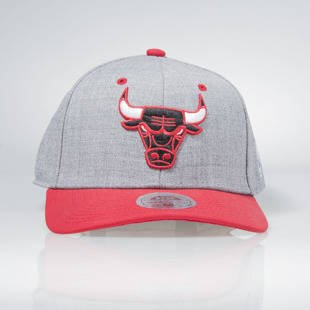 Mitchell & Ness stretch fit cap Chicago Bulls heather grey / red  HEATHER EU194