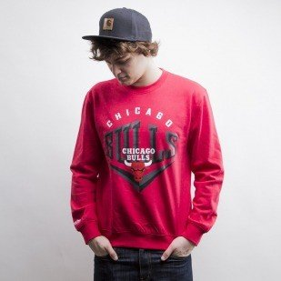 Mitchell & Ness sweatshir Chicago Bulls red Beveled Logo
