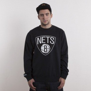 Mitchell & Ness sweatshirt Brooklyn Nets black crewneck Team Logo