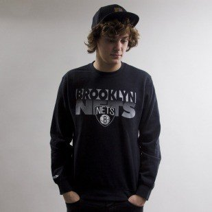 Mitchell & Ness sweatshirt Brooklyn Nets crewneck  black Team Shadow