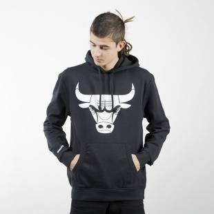 Mitchell & Ness sweatshirt Chicago Bulls Logo Hoody BLACK AND WHITE