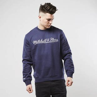 Mitchell & Ness sweatshirt Own Brand Crewneck navy / white M&N Script Logo