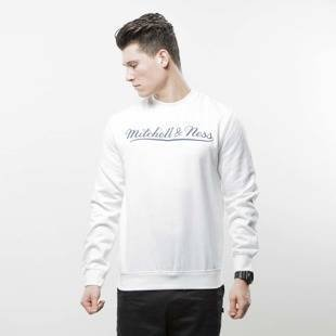 Mitchell & Ness sweatshirt Own Brand Crewneck white / navy M&N Script Logo