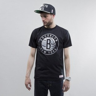 Mitchell & Ness t-shirt Brooklyn Nets black Metallic Silver Center