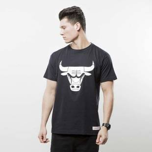 Mitchell & Ness t-shirt Chicago Bulls black BLACK and WHITE LOGO