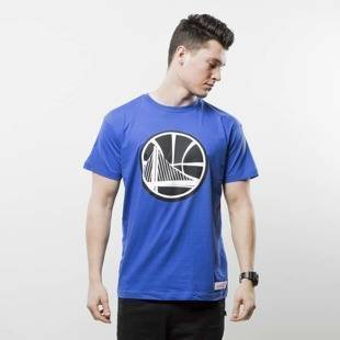 Mitchell & Ness t-shirt Golden State Warriors royal BLACK and WHITE LOGO