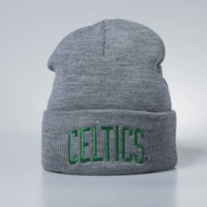 Mitchell & Ness winter beanie Boston Celtics grey heather Team Logo Cuff