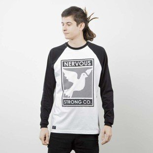 Nervous longsleeve Poster black / white