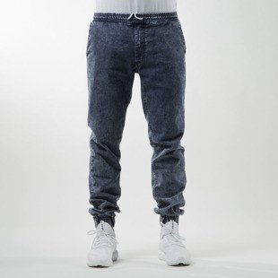 Nervous pants spodnie Jogger Denim blue / marble