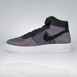 Nike Air Force 1 Ultra Flyknit Mid hot punch / black - blue glow 817420-602
