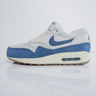 Nike WMNS Air Max 1 light bone / brigide blue - gum medium brown  (599820-019)