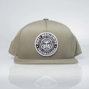 Obey Classic Patch Snapback Cap light army