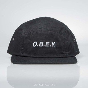 Obey Contorted II 5 Panel Cap black