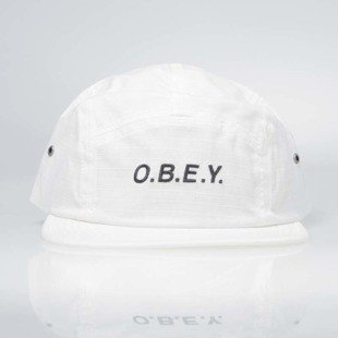 Obey Contorted II 5 Panel Cap off white