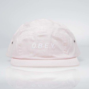 Obey Contorted II 5 Panel Cap rose