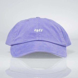 Obey Jumble Bar Hat II 6 Panel violet