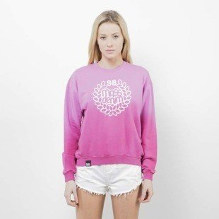 Saint Mass Crewneck Base Fade pink / red
