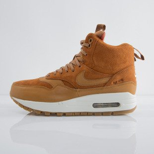 Sneakers Nike WMNS Air Max 1 Sneakerboot tawny / tawny - sail - gum med brown (685267-200)