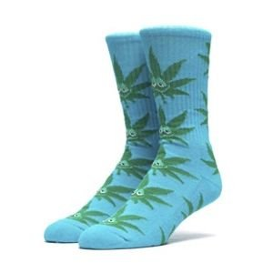 Socks HUF Green Buddy Plantlife Crew Sock aqua