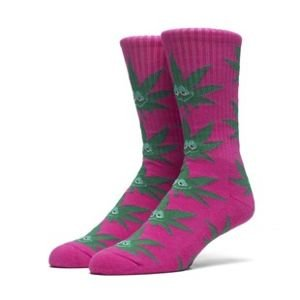 Socks HUF Green Buddy Plantlife Crew Sock pink