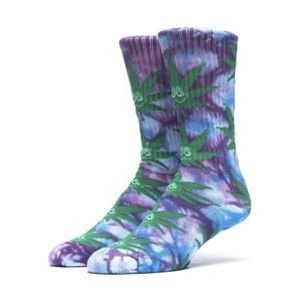 Socks HUF Green Buddy Plantlife Crew Sock purple