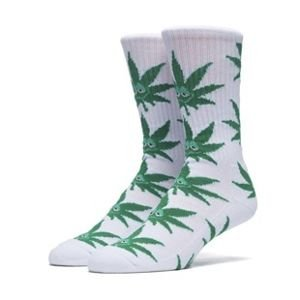 Socks HUF Green Buddy Plantlife Crew Sock white