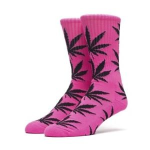 Socks HUF Highlighter Plantlife Crew Sock neon pink