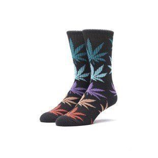 Socks HUF Melange Plantlife Crew Sock black multi
