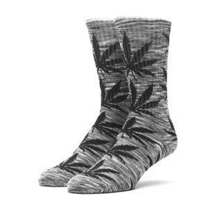 Socks HUF Melange Plantlife Crew Sock grey / black
