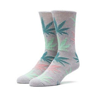 Socks HUF Melange Plantlife Crew Sock heather grey / multi