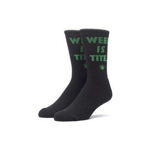 Socks HUF Weed Is Tite Crew Sock black