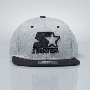 Starter sanpback Icon Logo grey heather / black  ST-238
