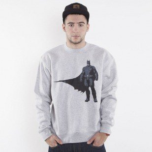 Starter sweatshirt Batman Core Logo crewneck grey heather/black AK-SW014
