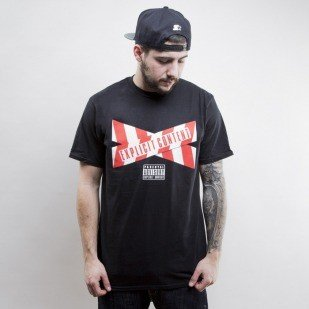 Starter t-shirt Parental Advisory TAPE  black / red (T021)