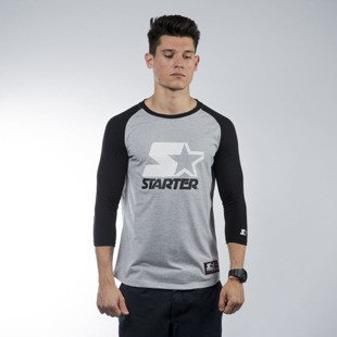 Starter t-shirt Raglan Tee grey heather / black (ST-RA556)