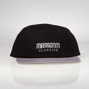 Strapback Mass Denim 5 Panels Cap Classic Cut black / grey SS 2017